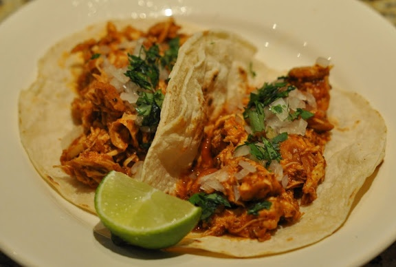 Shredded Chicken Tacos | for the love of food | Pinterest