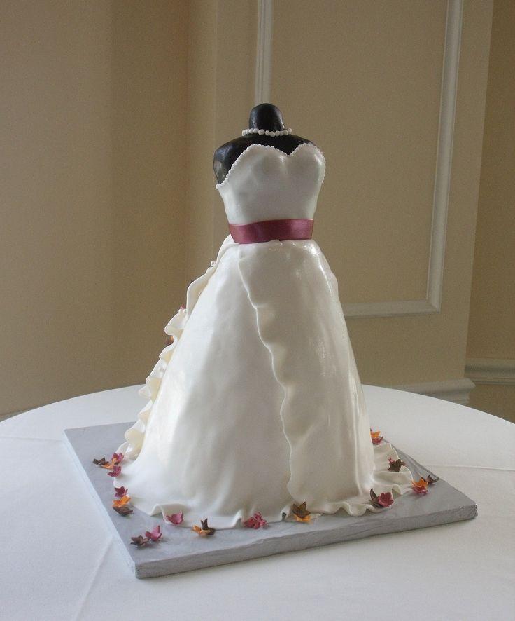 Wedding Dress Bridal Shower Cake Pinterest