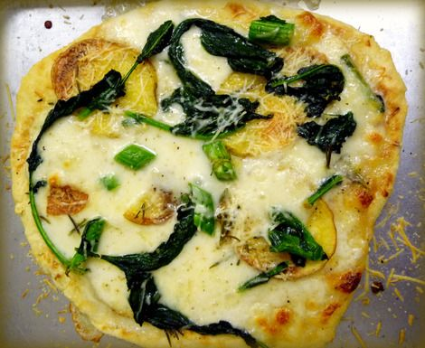 Broccoli Rabe, Potato and Rosemary Pizza | Recipe