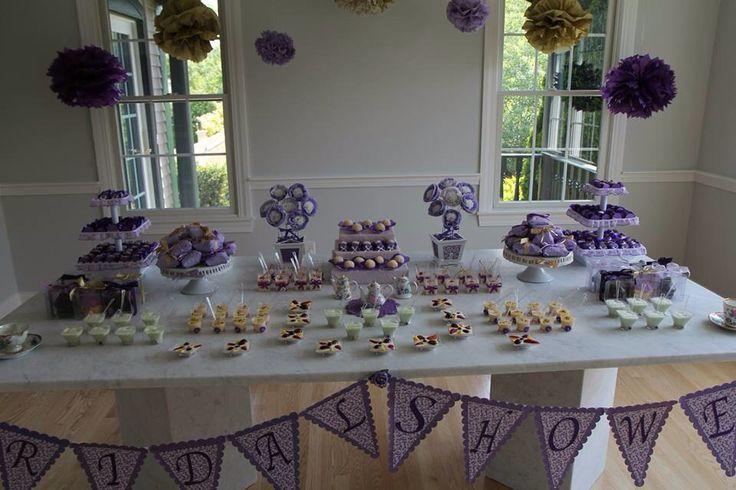 Purple theme bridal shower bridal shower pinterest for Wedding showers themes