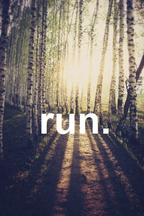 """RUN. everyday. even when you """"can't""""."""