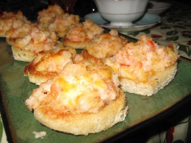 Angie 39 s shrimp canapes recipe for Shrimp canape ideas