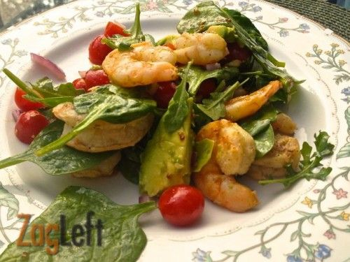 Grilled Shrimp and Avocado Salad with a tangy Lemon Dijon Vinaigrette