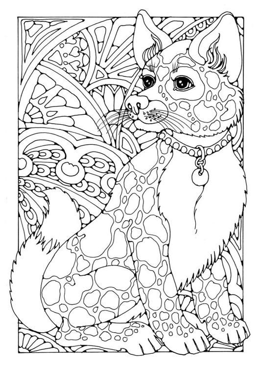 Coloring Pages For Adults Of Dogs : Coloring page dog adult colouring therapy