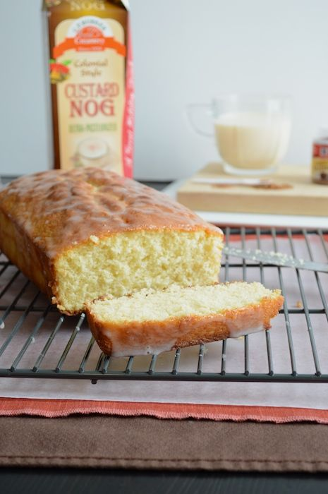 Whipped Eggnog Loaf - This will be great for the hubby next Christmas