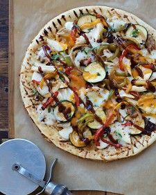 Grilled Summer Veggie 'N Chicken Pizza | Yumminess | Pinterest