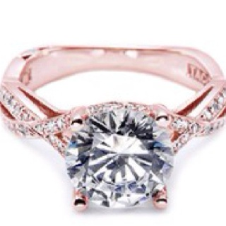 Rose Colored Engagement Ring