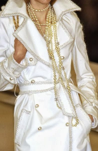 Chanel, pearls,white