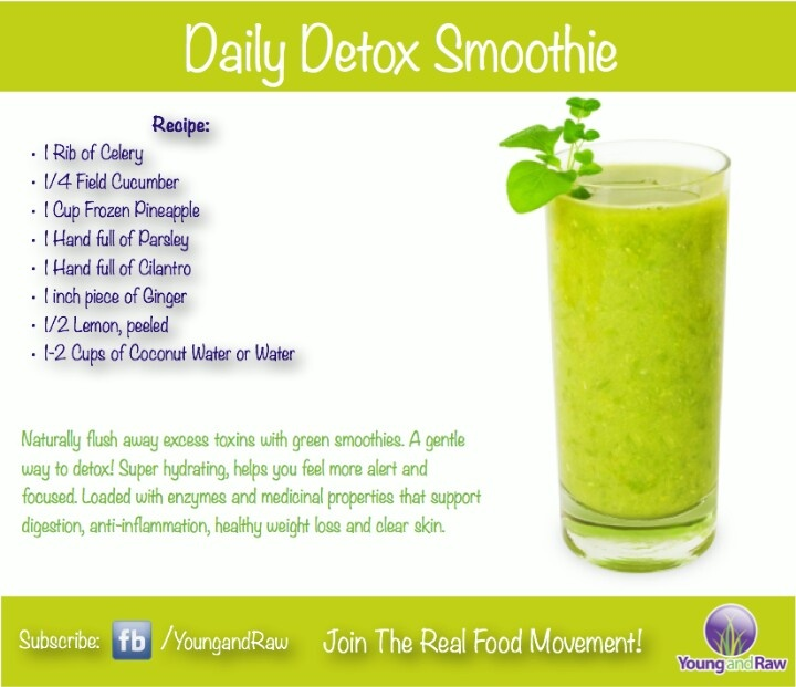 Daily detox smoothie | Juicing | Pinterest