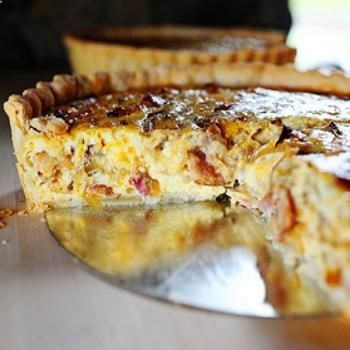 Cowboy Quiche - I added mushrooms, breakfast sausage, and green onions ...