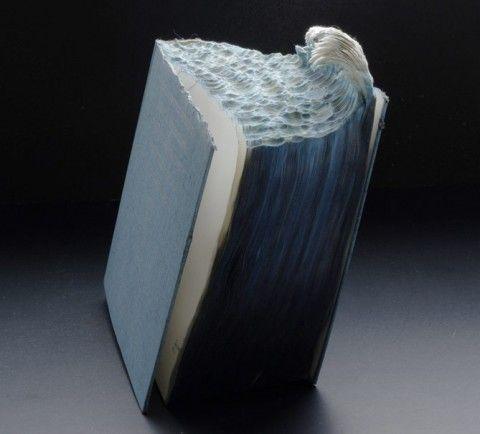 Stunning Book Sculpture by Guy Laramee.