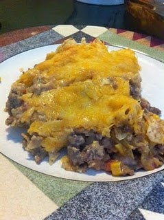beef nacho casserole | Recipes | Pinterest