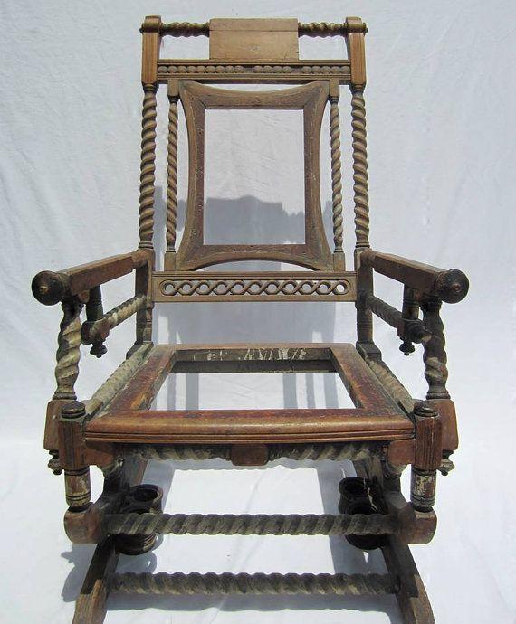 Platform Rocking Chair by TheLazyHound on Etsy, Vintage Furniture ...