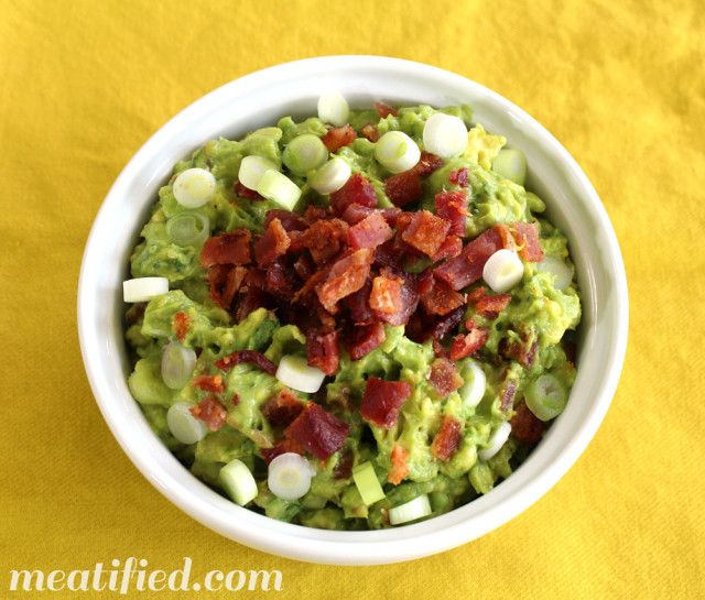 Bacon & Green Onion Guacamole - meatified