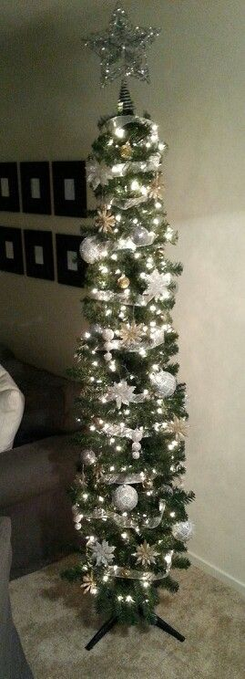 Gold And Silver Pencil Christmas Tree Holidays Pinterest