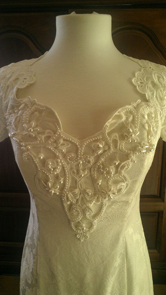 Vintage wedding dress by jessica mcclintock for Jessica mcclintock wedding dresses outlet
