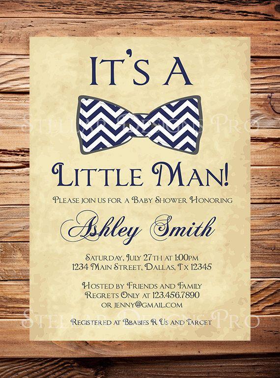 baby shower invitation boy bow tie boy shower by stellardesignspro