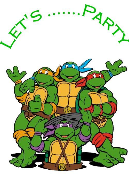 Crafty image with printable ninja turtles