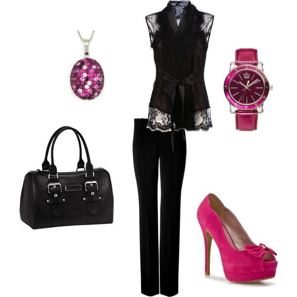Business casual w/ pop of pink!