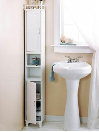 slim storage cabinet space saver bathroom shelf laundry kitchen organ