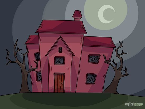 How to draw a haunted house for Easy haunted house to draw