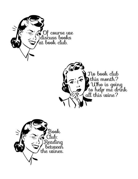 ... Club Fun - Instant Digital Download - Book Club Humor, Printable