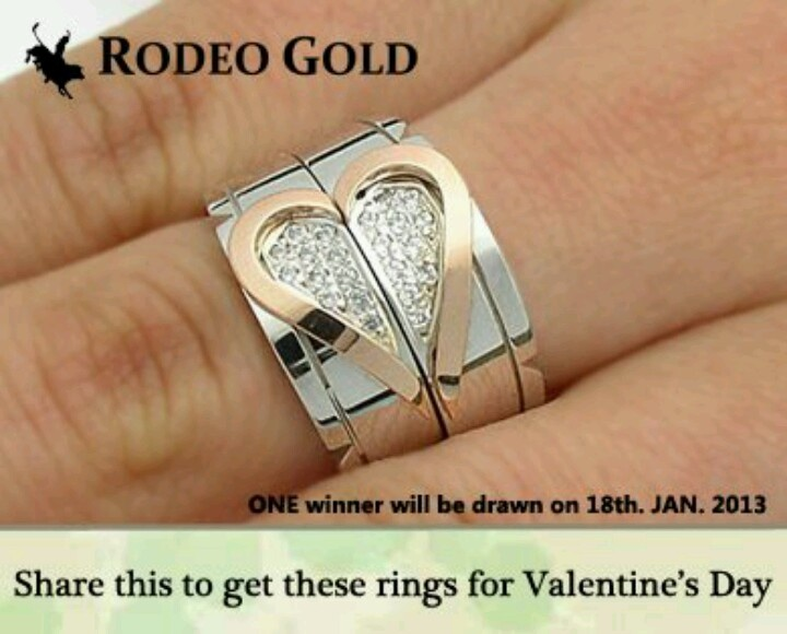 valentine's day gold ring