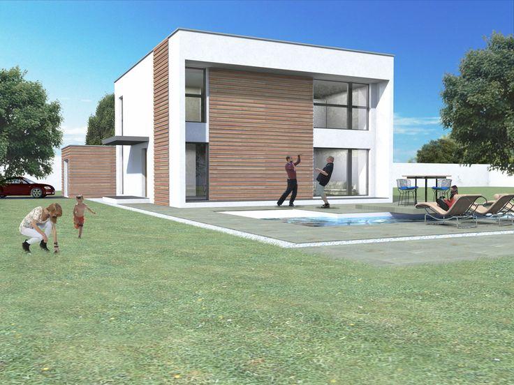 maison r 1 style contemporain arhitectura pinterest
