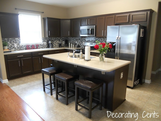 Dark cabinets? This blog has GREAT ideas & instructions for DIY ...