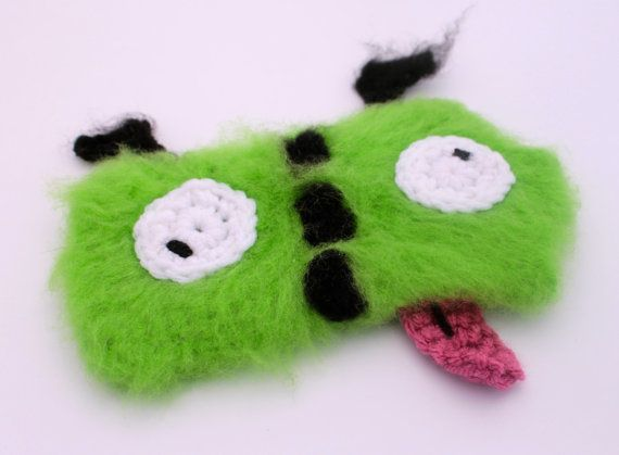 Crochet Invader Zim Patterns : Invader Zim Gir-insprired Crochet Phone Cozy by DTRH