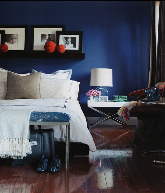 awesome deep blue bedroom wall for the home pinterest
