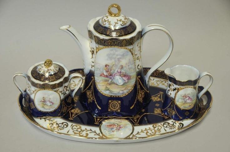 16 piece limoges china tea set teapots 2 pinterest