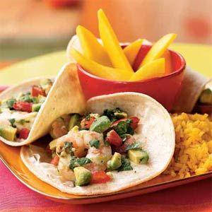 Seviche-Style Shrimp and Avocado Tacos | MyRecipes.com