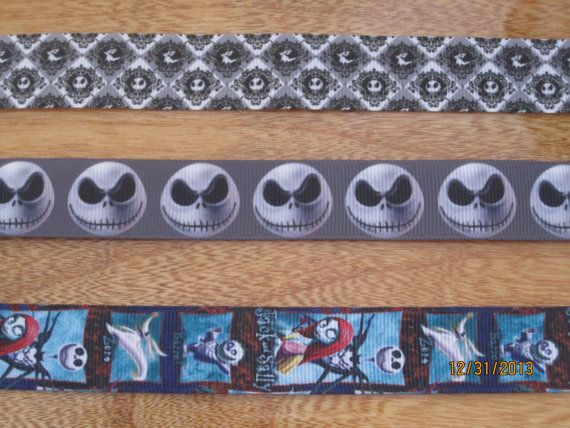 Nightmare before Christmas inspired Ribbon lanyard ID holder for Disn ...