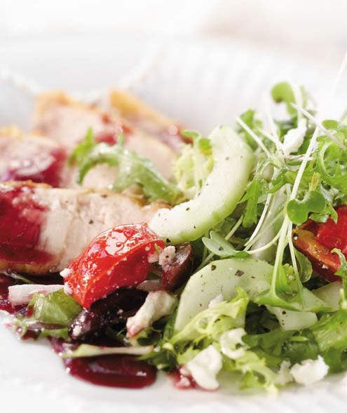 Apple-Rosemary Roasted Chicken with Feta and Baby Greens Orange Poppy ...