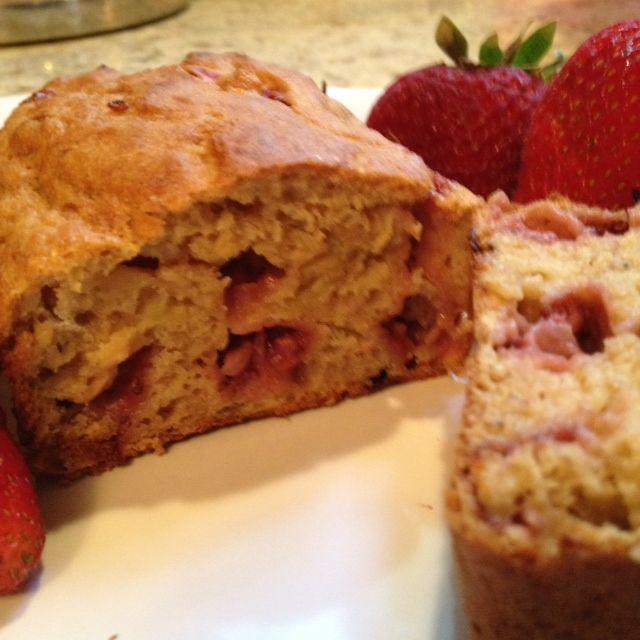 Strawberry Banana Bread made with Greek Yogurt | Lauren Kelly ...