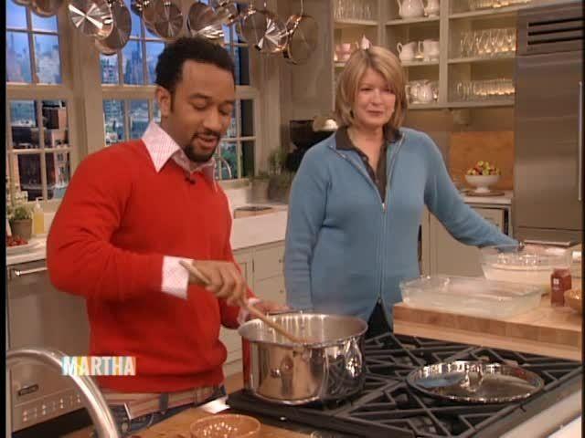 John Legend's Mac and Cheese on Martha Stewart