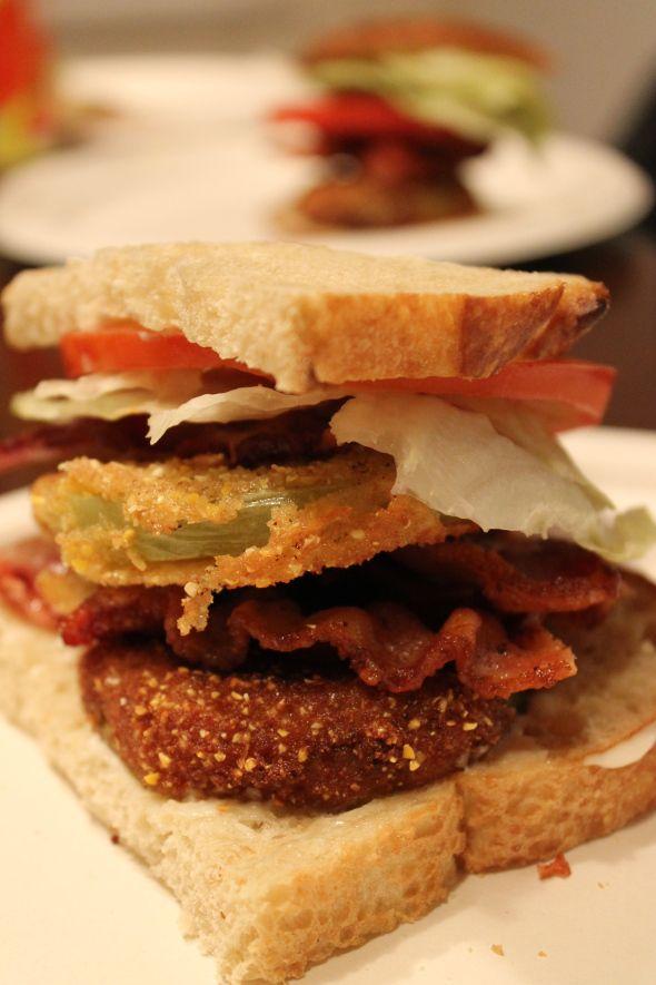 Fried Green Tomato BLT | BACON!!! | Pinterest
