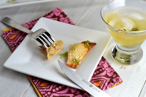 Baked Salmon Rangoon with Apple & Goat Cheese - Cara's Cravings
