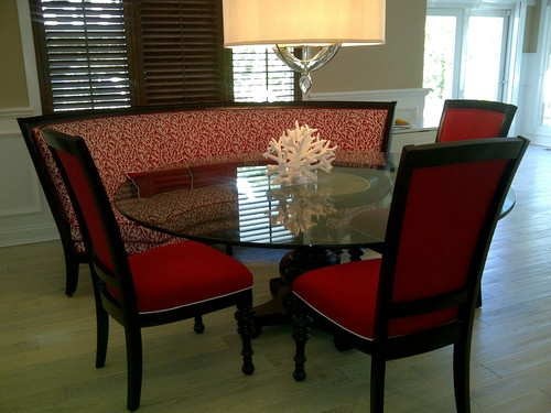Horchow Dining Set Banquette seat Glass Table Chair MINT : cf44e6c0f98331ab0521178fdafa5a35 from pinterest.com size 500 x 375 jpeg 73kB