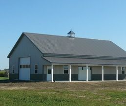 Pole Barns with Porches