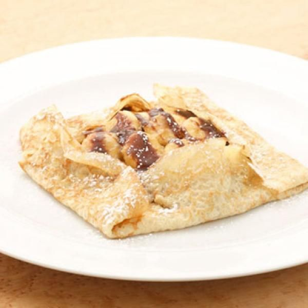 Banana-Caramel Crepes with Nutella Recipe | http://aol.it/1fRXEON