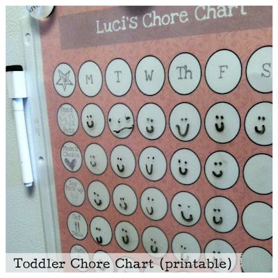 Mine for the Making: Toddler/Pre-K Chore Chart {printable}