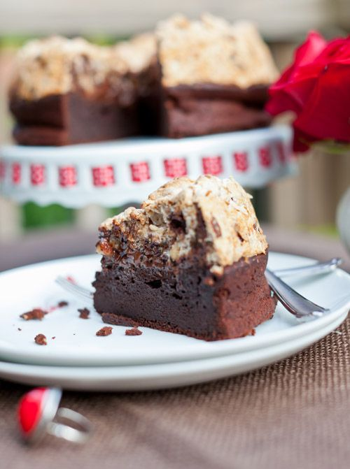 Chocolate and Hazelnut Meringue Cake (yes, this is gluten free...)