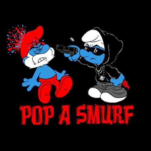 Smurfs Smoking Weed Smoking weed