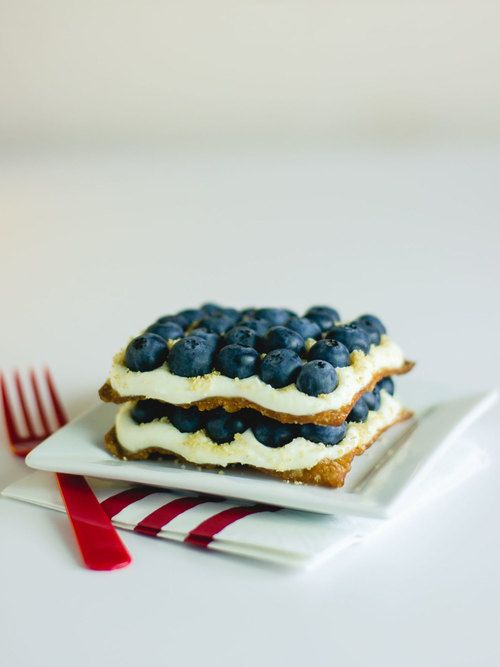 Blueberry cheesecake napoleon by sam henderson of today s nest for