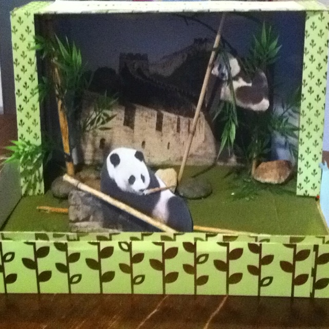 Panda diorama they can t do it alone school ideas pinterest