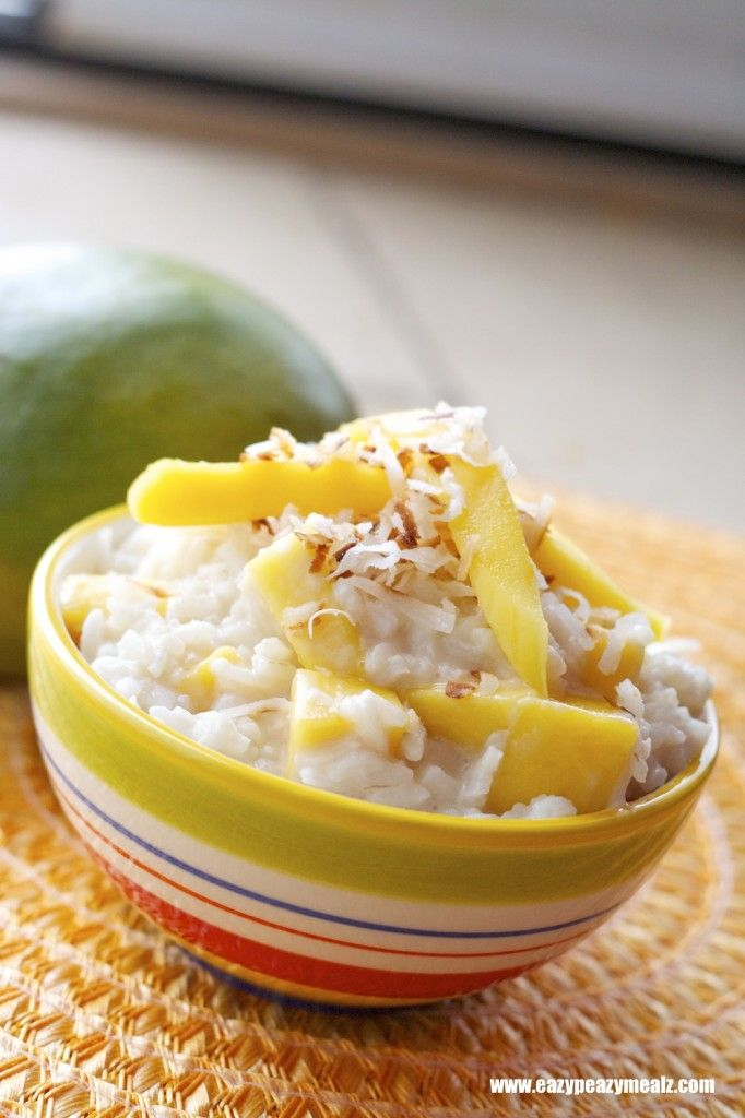 Coconut Mango Rice Pudding (Dairy Free) | Food and Recipes | Pinterest