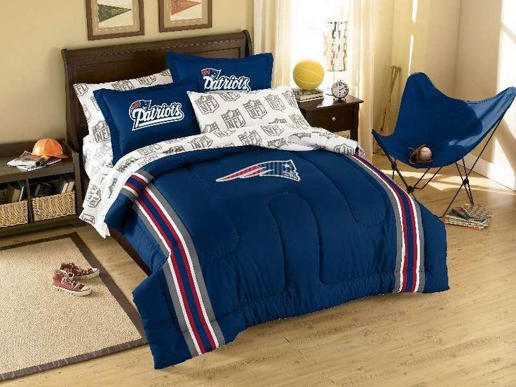 New england patriots nfl bed in bag boys room pinterest