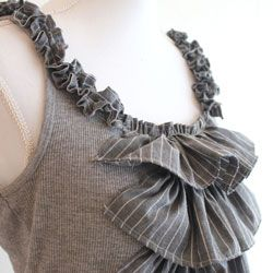 Grab your boyfriends old clothes and use them to create a fabulous top!